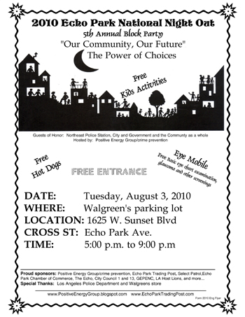 Volunteers Needed For National Night Out Epia