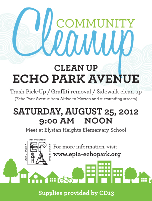 Saturday Echo Park Community Cleanup EPIA